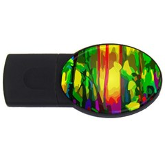 Abstract Vibrant Colour Botany Usb Flash Drive Oval (4 Gb) by Nexatart