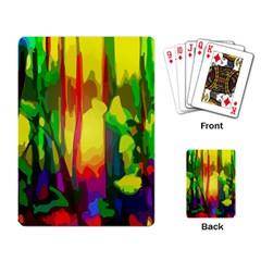 Abstract Vibrant Colour Botany Playing Card by Nexatart