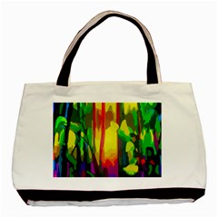 Abstract Vibrant Colour Botany Basic Tote Bag