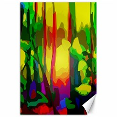 Abstract Vibrant Colour Botany Canvas 20  X 30   by Nexatart