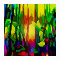Abstract Vibrant Colour Botany Medium Glasses Cloth (2 Side)