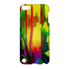 Abstract Vibrant Colour Botany Apple Ipod Touch 5 Hardshell Case