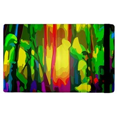 Abstract Vibrant Colour Botany Apple Ipad 2 Flip Case by Nexatart