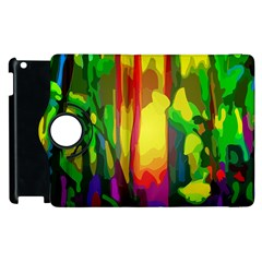 Abstract Vibrant Colour Botany Apple Ipad 2 Flip 360 Case by Nexatart