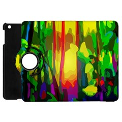 Abstract Vibrant Colour Botany Apple Ipad Mini Flip 360 Case by Nexatart