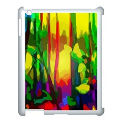 Abstract Vibrant Colour Botany Apple Ipad 3/4 Case (white) by Nexatart