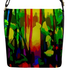 Abstract Vibrant Colour Botany Flap Messenger Bag (s) by Nexatart