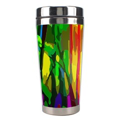 Abstract Vibrant Colour Botany Stainless Steel Travel Tumblers by Nexatart