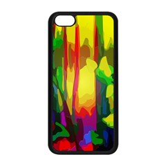 Abstract Vibrant Colour Botany Apple Iphone 5c Seamless Case (black) by Nexatart