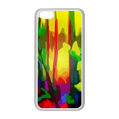 Abstract Vibrant Colour Botany Apple Iphone 5c Seamless Case (white) by Nexatart