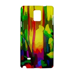 Abstract Vibrant Colour Botany Samsung Galaxy Note 4 Hardshell Case