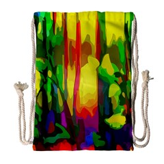 Abstract Vibrant Colour Botany Drawstring Bag (large)