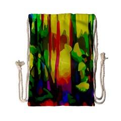 Abstract Vibrant Colour Botany Drawstring Bag (small) by Nexatart