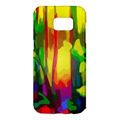 Abstract Vibrant Colour Botany Samsung Galaxy S7 Edge Hardshell Case by Nexatart