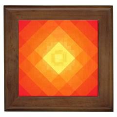 Pattern Retired Background Orange Framed Tiles by Nexatart
