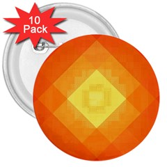 Pattern Retired Background Orange 3  Buttons (10 Pack)