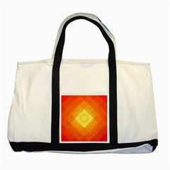 Pattern Retired Background Orange Two Tone Tote Bag