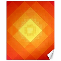 Pattern Retired Background Orange Canvas 16  X 20   by Nexatart