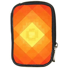 Pattern Retired Background Orange Compact Camera Cases by Nexatart