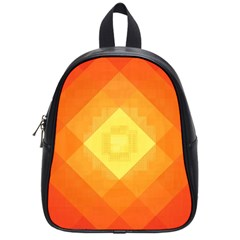 Pattern Retired Background Orange School Bags (small)  by Nexatart