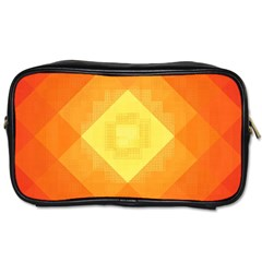 Pattern Retired Background Orange Toiletries Bags 2 Side by Nexatart