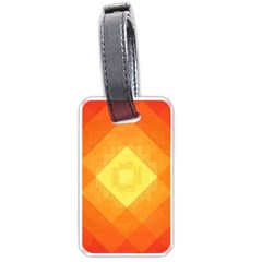 Pattern Retired Background Orange Luggage Tags (two Sides)