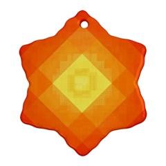 Pattern Retired Background Orange Snowflake Ornament (two Sides) by Nexatart