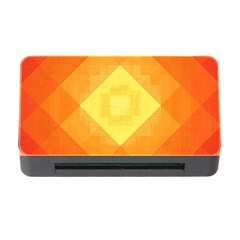 Pattern Retired Background Orange Memory Card Reader With Cf