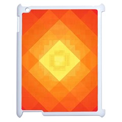 Pattern Retired Background Orange Apple Ipad 2 Case (white) by Nexatart