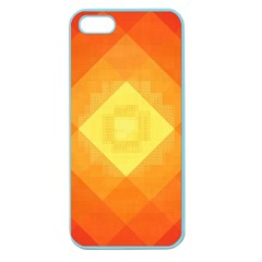 Pattern Retired Background Orange Apple Seamless Iphone 5 Case (color)
