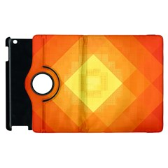 Pattern Retired Background Orange Apple Ipad 2 Flip 360 Case by Nexatart