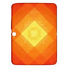 Pattern Retired Background Orange Samsung Galaxy Tab 3 (10 1 ) P5200 Hardshell Case  by Nexatart