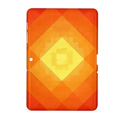 Pattern Retired Background Orange Samsung Galaxy Tab 2 (10 1 ) P5100 Hardshell Case  by Nexatart