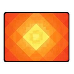 Pattern Retired Background Orange Double Sided Fleece Blanket (small)
