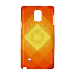 Pattern Retired Background Orange Samsung Galaxy Note 4 Hardshell Case by Nexatart