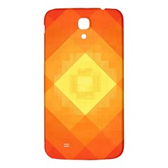 Pattern Retired Background Orange Samsung Galaxy Mega I9200 Hardshell Back Case by Nexatart