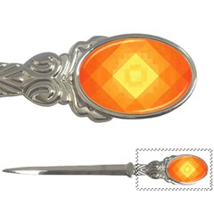 Pattern Retired Background Orange Letter Openers