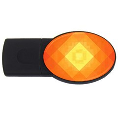 Pattern Retired Background Orange Usb Flash Drive Oval (4 Gb) by Nexatart