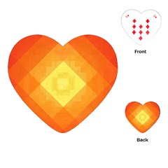 Pattern Retired Background Orange Playing Cards (heart)  by Nexatart
