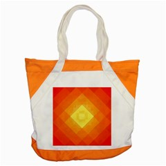Pattern Retired Background Orange Accent Tote Bag