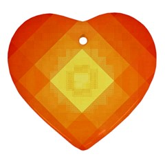 Pattern Retired Background Orange Heart Ornament (two Sides) by Nexatart