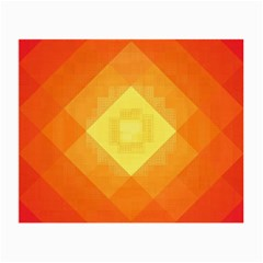 Pattern Retired Background Orange Small Glasses Cloth (2 Side) by Nexatart