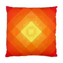 Pattern Retired Background Orange Standard Cushion Case (two Sides) by Nexatart