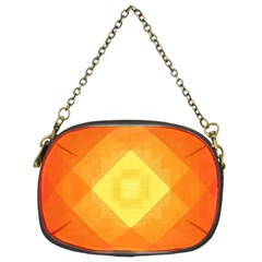 Pattern Retired Background Orange Chain Purses (two Sides)  by Nexatart