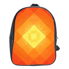Pattern Retired Background Orange School Bags(large)