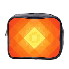 Pattern Retired Background Orange Mini Toiletries Bag 2 Side by Nexatart