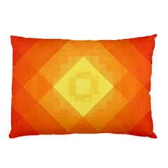 Pattern Retired Background Orange Pillow Case (two Sides)
