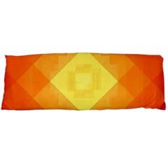 Pattern Retired Background Orange Body Pillow Case Dakimakura (two Sides) by Nexatart