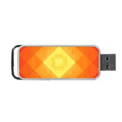 Pattern Retired Background Orange Portable Usb Flash (two Sides)