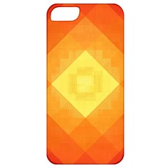 Pattern Retired Background Orange Apple Iphone 5 Classic Hardshell Case